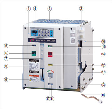 Acb Air Circuit Breaker Fixed Type Draw Out Type Kyungdong